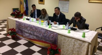 (Da sx: Onofrio Maragò, Angela Robbe, Francesco Carchedi e Michele Mirabello)