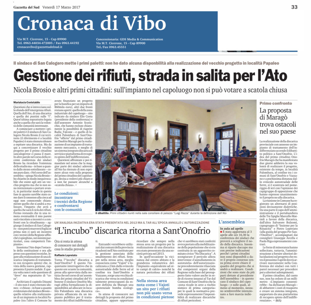Gazzetta del Sud 17/03/2017