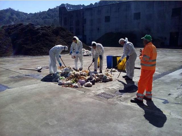 Le verifiche sull'umido effettuate presso gli stabilimenti EcoCall