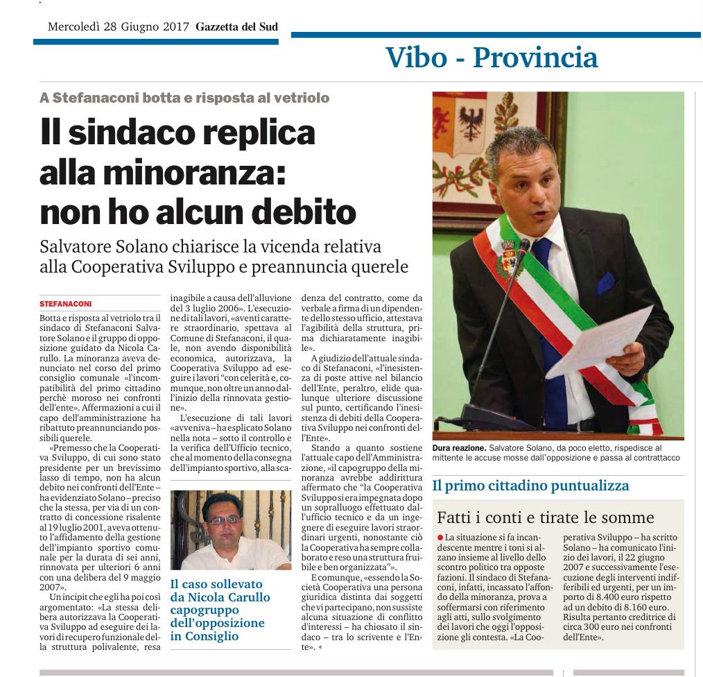 Gazzetta del Sud 28/06/2017