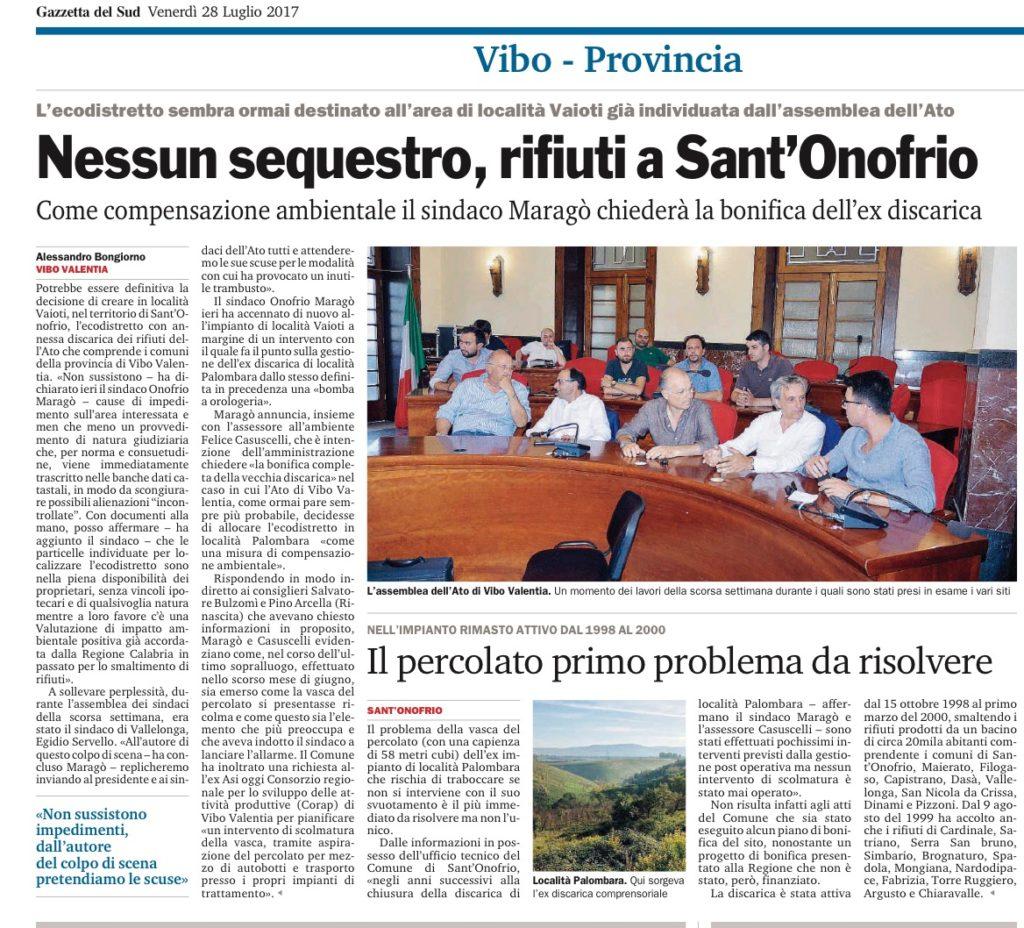 Gazzetta del Sud 28/07/2017
