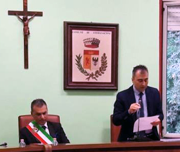 Il Sindaco Solano ed il Presidente del Consiglio Cugliari