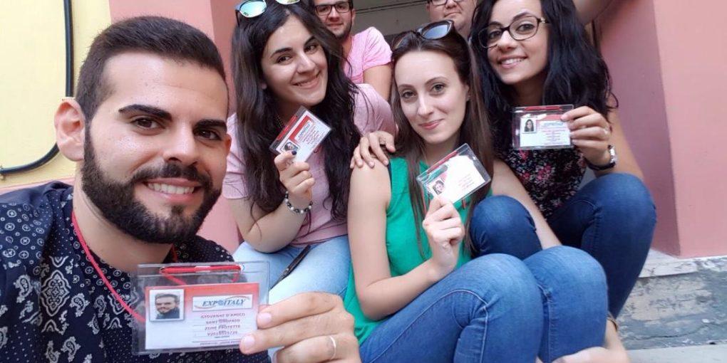 (Alcuni dei giovani volontari impegnati nei progetti di servizio civile)