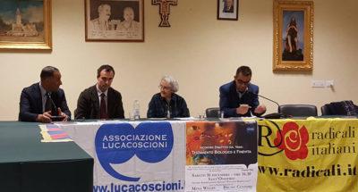 I relatori on. Bruno Censore, Rocco Ruffa e Mina Welby