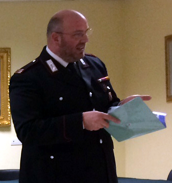 Il Maresciallo  comandante della stazione di S.Omofrio   Domenico Fazzari